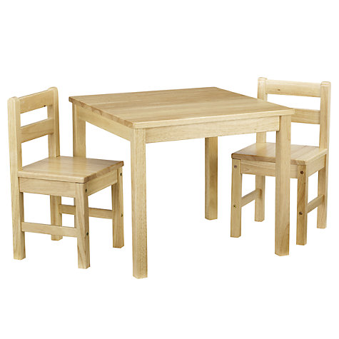 Buy John Lewis Classic Table and Chairs, Natural Online at johnlewis.com