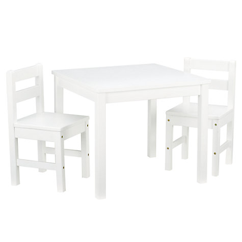 Buy John Lewis Classic Table and Chairs, White Online at johnlewis.com