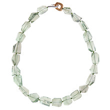 Buy Cobra & Bellamy Hand Cut Rock Crystal Black Tourmaline Bead Necklace Online at johnlewis.com