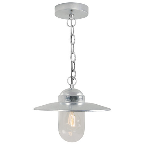 Buy Nordlux Luxembourg Outdoor Pendant, Galvanized Steel Online at johnlewis.com