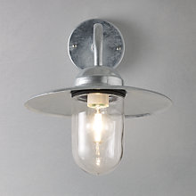 Buy Nordlux Luxembourg Outdoor Wall Light, Galvanised Steel Online at johnlewis.com