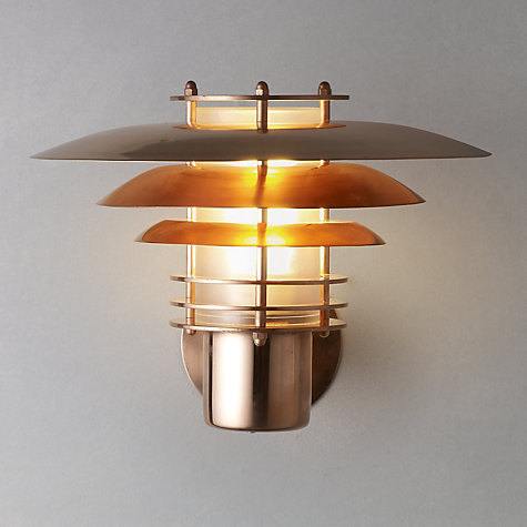 Buy Nordlux Phoenix Mini Outdoor Wall light, Up, Copper Online at johnlewis.com