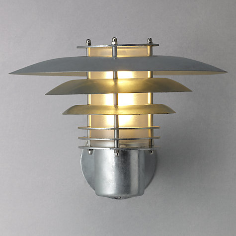Buy Nordlux Phoenix Mini Outdoor Wall light, Up, Gavanized Steel Online at johnlewis.com