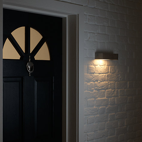 Buy Nordlux Square Outdoor Wall Light, Stainless Steel Online at johnlewis.com