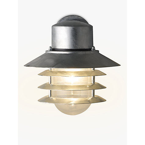 Buy Nordlux Vejers Outdoor Wall Light, Galvanised Steel Online at johnlewis.com