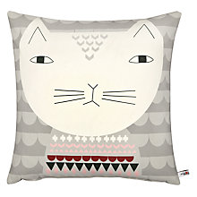 Buy Donna Wilson Mog Cushion, Grey Online at johnlewis.com