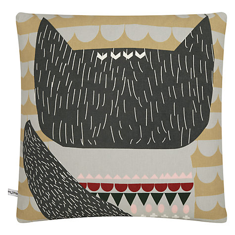 Buy Donna Wilson Printed Woolfie Cushion, Grey Online at johnlewis.com