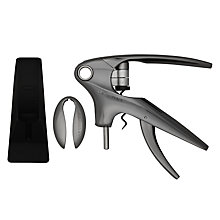 Buy Le Creuset Wine Accessories LM-350 Trigger Lever Corkscrew and Stand, Black / Nickel Online at johnlewis.com