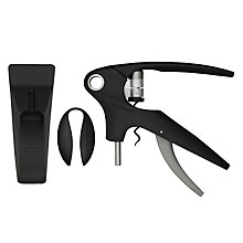 Buy Le Creuset Wine Accessories LM-350 Trigger Lever Corkscrew and Stand, Black Plastic Online at johnlewis.com