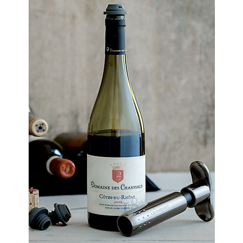 Buy Le Creuset Wine Accessories WA137 Wine Pump, Black Nickel Online at johnlewis.com
