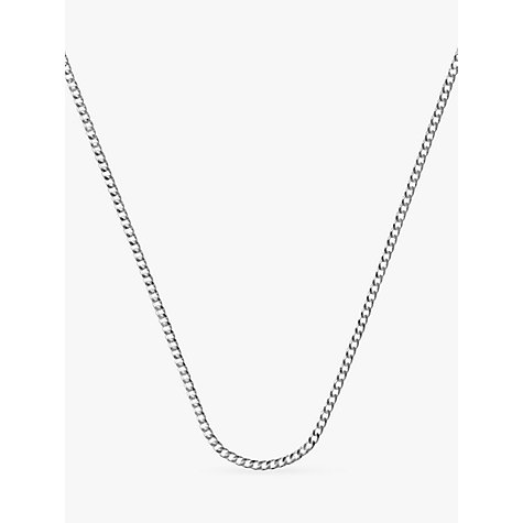 Buy Nina B Long Curb Chain Necklace, Silver Online at johnlewis.com