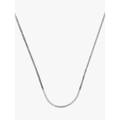 Buy Nina Breddal Square Snake Chain, 45cm Online at johnlewis.com