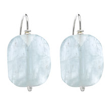 Buy Cobra & Bellamy Aquamarine Oblong Drop Earrings Online at johnlewis.com