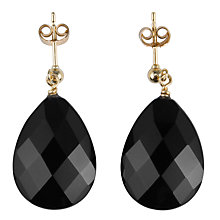 Buy Cobra & Bellamy Onyx Flat Drop Earrings Online at johnlewis.com
