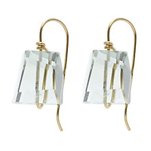 Buy Cobra & Bellamy 18ct Gold Praisolite Drop Earrings, Clear Online at johnlewis.com