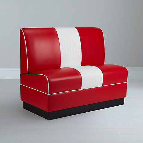 Buy Cola Red Lexington Booth Seats Online at johnlewis.com