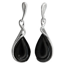 Buy Goldmajor Jet Silver Drop Earrings, Black Online at johnlewis.com