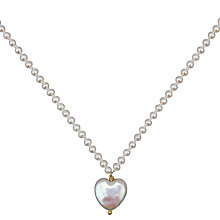 Buy Cobra & Bellamy Pearl Heart On Pearl Chain Pendant Necklace Online at johnlewis.com