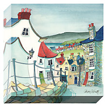 Buy Catherine Stephenson- Coastal Town 2 Print On Canvas, 30 x 30cm Online at johnlewis.com