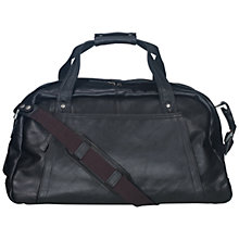 Buy Hidesign Hamilton Leather Holdall, Black Online at johnlewis.com