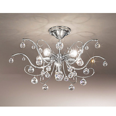 Buy Kolarz Carmen Ceiling Light, Chrome, 5 Light Online at johnlewis.com