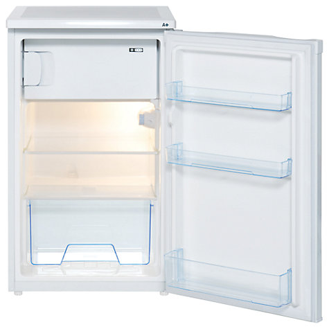 Buy Lec R5010W Fridge with Freezer Compartment, A+ Energy Rating, 50cm Wide, White Online at johnlewis.com