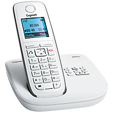 Buy Gigaset A510A Digital Telephone and Answering Machine, Single DECT, White Online at johnlewis.com