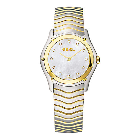 Buy Ebel 1256F21/9925 Women's Stainless Steel/Gold Bracelet Watch Online at johnlewis.com