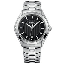 Buy Ebel EBECBTWT0014 Classic Men's Sport Black Dial Steel Bracelet Watch Online at johnlewis.com