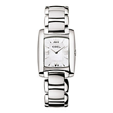 Buy Ebel EBBLBTWT0003 Women's Brasilia Mini Rectangular Mother of Pearl Bracelet Watch Online at johnlewis.com