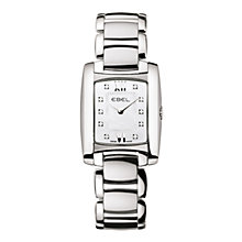 Buy Ebel EBBLBTWT0005 Brasilia Women's Mini Rectangular Steel Mother of Pearl Bracelet Watch Online at johnlewis.com