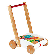 Buy Janod Push Along iWood Cart Online at johnlewis.com