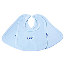 Buy My 1st Years Personalised Bibs, Pack of 3, Blue Online at johnlewis.com