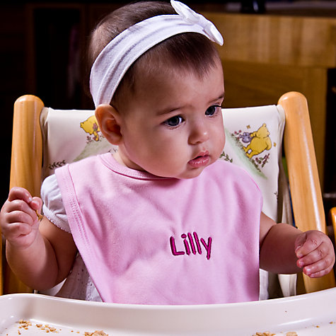 Buy My 1st Years Personalised Bibs, Pack of 3, Pink Online at johnlewis.com