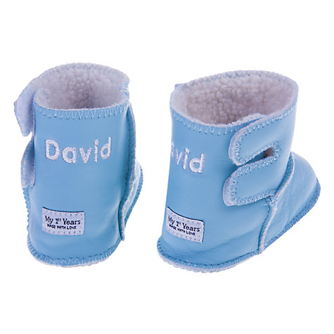Buy My 1st Years Personalised Booties, Blue Online at johnlewis.com