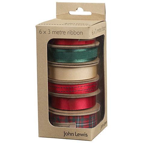 Buy John Lewis Classic Christmas Ribbons Online at johnlewis.com