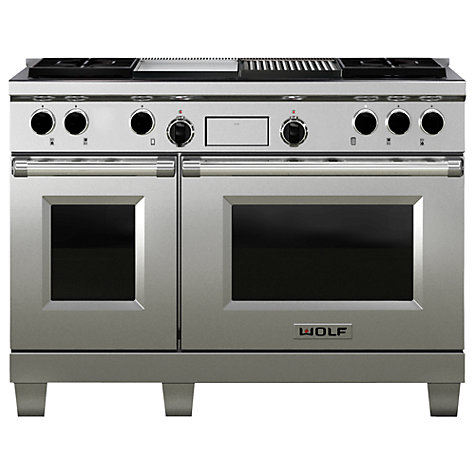 Buy Wolf ICBDF486G Dual Fuel Range Cooker, Stainless Steel Online at johnlewis.com