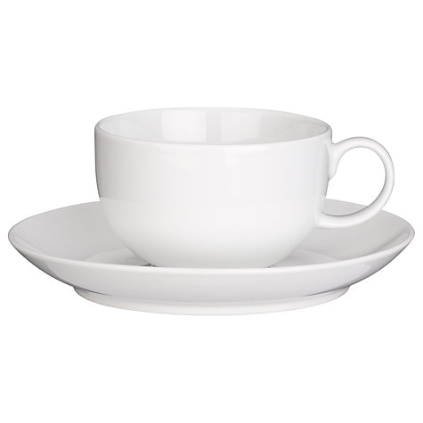Buy House by John Lewis Teacup, 0.285L, White Online at johnlewis.com