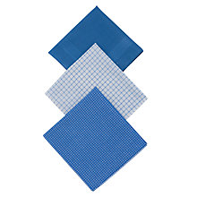 Buy John Lewis Designer Handkerchiefs, Pack of 3, Blue Online at johnlewis.com