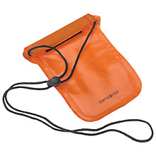 Buy Samsonite Waterproof Money Pouch, Orange Online at johnlewis.com