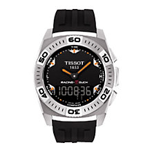 Buy Tissot RT0025201705102 Men's Racing Touch Rubber Strap Watch, Black Online at johnlewis.com