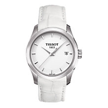 Buy Tissot T0352101601100 Women's Couturier Classic Dream White Leather Strap Watch Online at johnlewis.com