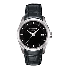 Buy Tissot T0352101605100 Women's Couturier Leather Strap Watch, Black/Silver Online at johnlewis.com