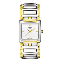 Buy Tissot T0513102203100 Women's T-Evocation Two Tone Bracelet Watch Online at johnlewis.com
