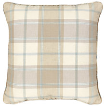 Buy John Lewis Marlow Check Cushion Cover, Cornflower Online at johnlewis.com
