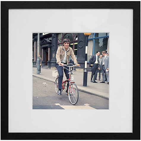 Buy Getty Images Gallery George Best on a Bike Framed Print, 59 x 59cm Online at johnlewis.com