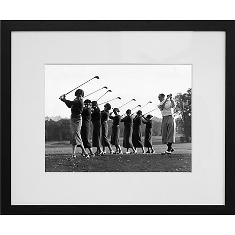 Buy Getty Images Gallery Golf Lesson Framed Print, 50 x 57cm Online at johnlewis.com