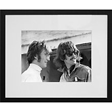 Buy Getty Images Gallery John Lennon & George Harrison Framed Print, 50 x 57cm Online at johnlewis.com