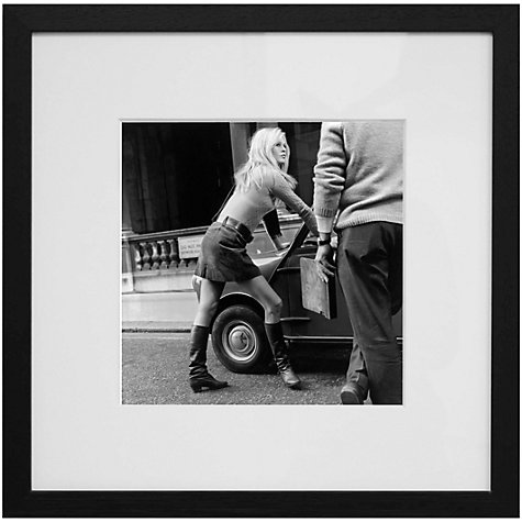 Buy Getty Images Gallery Brigitte Bardot Mini Car Mini Skirt Framed Print, 59 x 59cm Online at johnlewis.com