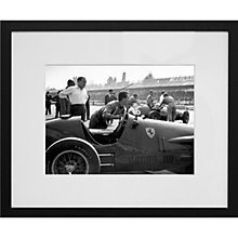 Buy Getty Images Gallery Racing Ferrari Framed Print, 50 x 57cm Online at johnlewis.com